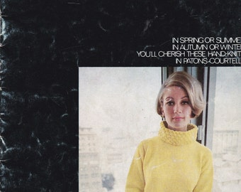 Paton's Knitting, Crochet Pattern No 782  Ladies 8 ply Courtelle (Vintage 1970s), Jumpers, Sweaters, Cardigans, Jackets