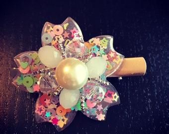 sakura japanese cherry blossom hair clip