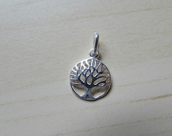 Sterling Silver (925) Round Tree Of Life Classic Filigree Charm/Pendant  12mm diameter