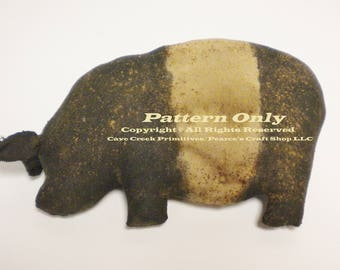 Primitive Pot Belly Pig Pattern, Primitive Pigs, Animal Patterns, Primitive Animals, Sewing Patterns, Pig Patterns, Country Farmhouse