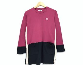 Rare!!Vintage Fila Sweatshirt Spellout biglogo Pullover Jumper hiphop streetwear sportswear