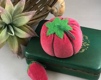 Vintage Tomato and Strawberry Pincushion