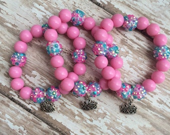 Set of 6 Princess party favor bracelets. Please message me with any custom requests :)