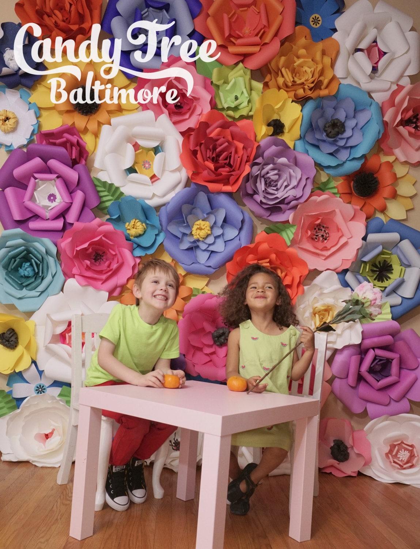Spring Paper Flower Backdrop Paper Flower Backdrop Giant Paper