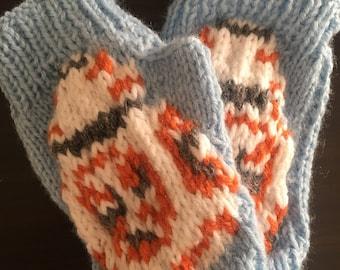 BB8 fingerless gloves