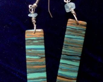Rainbow Calsilica Earrings