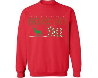 Ho Ho Ho Y'All Ugly Christmas Sweatshirt Ho Ho Ho Y'All Christmas Sweatshirt For Men & Women Christmas Reindeer Sweater Xmas Gift Ideas