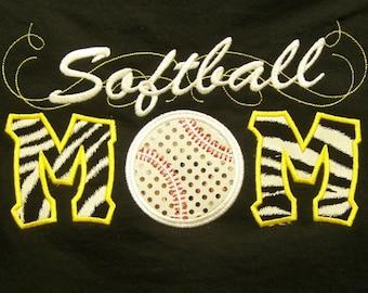 Softball Mom Shirt softball Mom School Tshirt Softball Mom Team Shirt