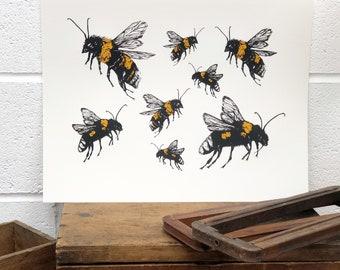 Bumblebee Screenprint