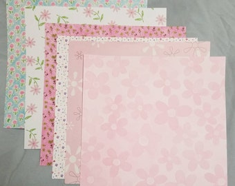 Scrapbooking paper. 15 different floral designs.