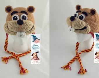 Crochet Pattern 092 - University of Minnesota Gopher Hat - All Sizes