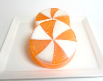 Candy Soap, Birthday Soap, Orange Soap, Soap for Kids, Orange Creasmsicle, Party Favor Soaps, Holiday Soap, Dessert Soap