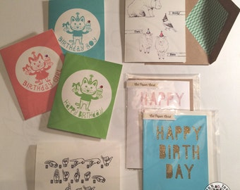 Birthday Card // Greeting Cards // Handmade unique birthday