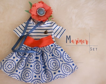 """set of clothing for 15-17"""" cloth dolls - Waldorf doll clothes, doll clothes, natural clothes, doll clothes, Steiner doll clothes"""