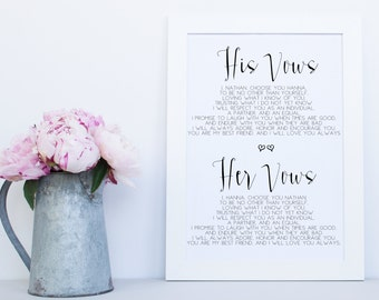 Vows sign etsy vows printable sign wedding printable signs wedding vows wedding vow sign printable junglespirit Gallery
