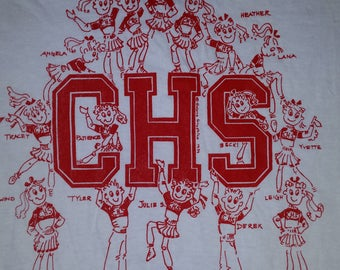 VINTAGE Carpenteria High School Cheerleading 1989 LARGE