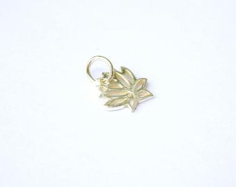 Sterling Silver Lotus Blossom Charm, Lotus Charm, Silver Lotus Charm