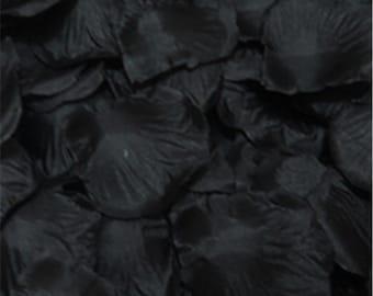 100 Black Artificial Rose Silk Petal For Wedding/Parties/Crafts