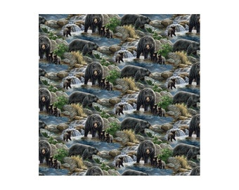 Bear Fabric Cool Water Scenic Fabric From Springs Creative