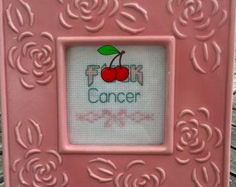 Cross Stitch Pattern, Fuck Cancer, Digital File Download--MATURE