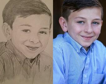 16x20 Custom hand drawn portrait