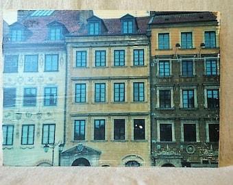 Transfert Photo sur un beau bloc de bois - wroclaw