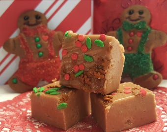 Christmas GINGERBREAD FUDGE Gourmet 1/2 pound