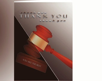 Elegant Thank You Card For Lawyer, Gratitude for the Best Lawyer, Appreciation for Lawyer
