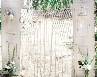Macrame curtain, Macrame wedding arch, Macrame wedding backdrop, Wedding ceremony arch, Large bohemian Curtain, Boho wedding