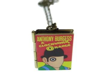Clockwork Orange book locket & Gift bag - Anthony Burgess - Necklace