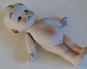 Vintage biscuit-ware boy doll