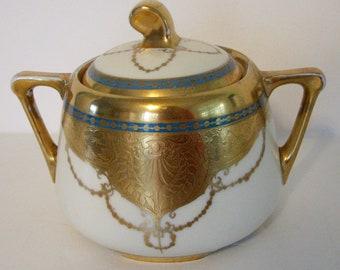 Antique Sugar Bowl Art Nouveau Brauer Antique Julius H Brauer