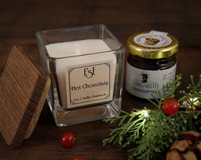 Scented Candle + Honey, Christmas set, Cheap, Aromatic gift, Aromatherapy, Business sweet gift, Yummy idea for bff, dinner invitation, bio