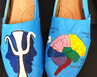Custom made Neurology/Psychology/Biology Toms. Designed and personalized just for you!