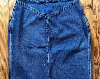 Vintage 70's Calvin Klein jean skirt | high waisted jean skirt | vintage denim skirt | vintage Calvin Klein | size 10