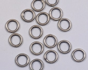 6mm Closed Jump Rings - Antique Silver - Choose Your Quantity