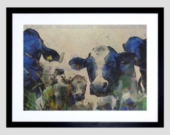 Nature Cow Cattle Farm Animal Poster Art Print Home Picture FEBB101B