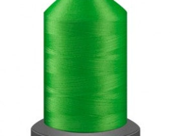 Neon Green thread, quilting thread, sewing machine thread, glide thread, sewing thread, 1000m cone, green thread, polyester thread