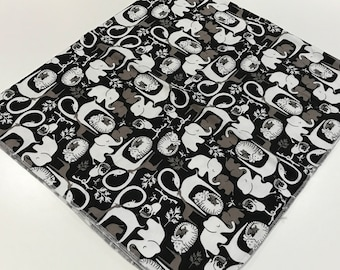 Monochrome Zoo Baby Boy Flannel Receiving Blanket