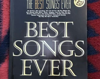The Best Songs Ever, Vintage1994 Songbook, 80 All Time Hits, 264 Pages, Piano Vocal Guitar, Fantastic Music