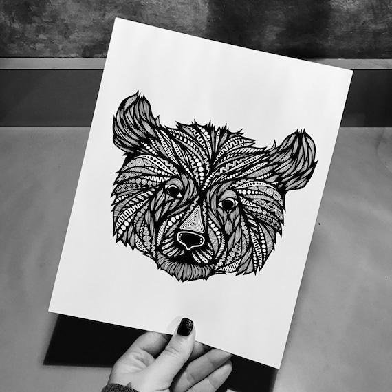 Zentangle - Beary the Bear