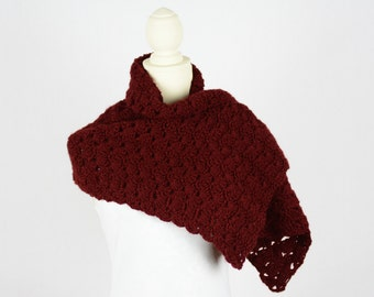 Crochet Shawl Cranberry