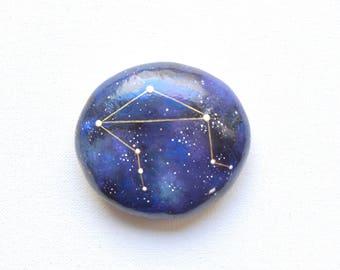 Hand Painted Stone, Libra Constellation Stone, Zodiac Rock, Hand Painted Art, Astrology Stone, Astronomy Gift, Arttohaveandtohold