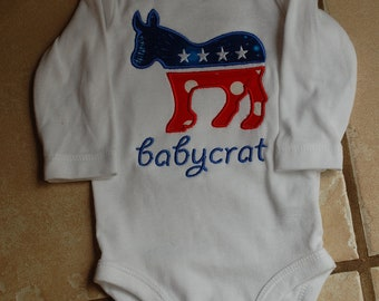 Babycrat Democrat Shirt or Bodysuit for Boy or Girl