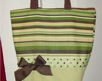 Blue Brown Chartruese  Fancy Stripe  Funky Mod 60's Swirl BAG Purse Tote or Diaperbag