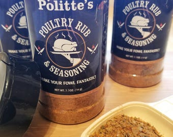 Chef Politte's Poultry Rub and Seasoning Seasoning for Chicken Seasoning for Goose Seasoning for Turkey