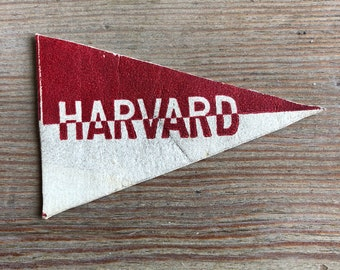 Harvard leather mini Pennant Vintage Tobacco premium 1910s crimson white graduation gift