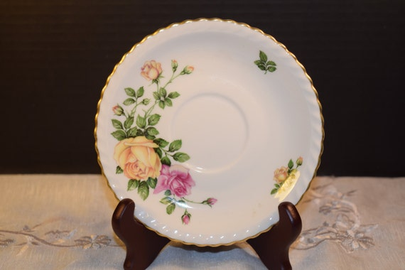 Franconia Krauheim Rose Garden Saucer Vintage Rose Garden Saucer Plate Discontinued China Replacement Gift for Her Mothers Day Gift