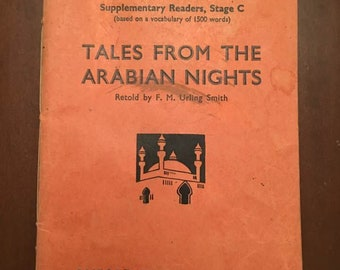 1934 London Book, The Oxford English Course, Tales From The Arabian Nights