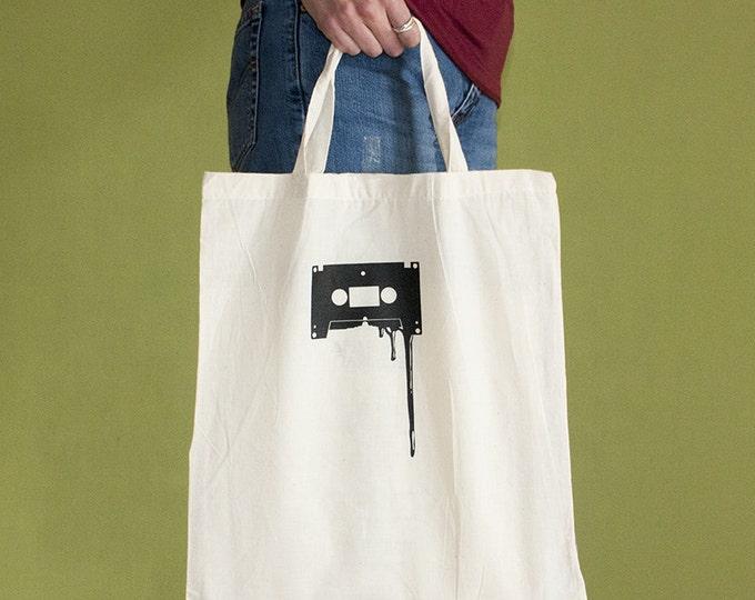 Cassette Tote Bag, Short Handles